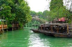 Vista della città antica di Wuzhen Fotografie Stock