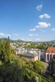 Vista della città Baden-Baden con Friedrichsbad Fotografie Stock