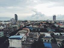 Vista della città a Bangkok, Tailandia Fotografia Stock Libera da Diritti
