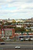 Vista della città Barnaul Fotografia Stock