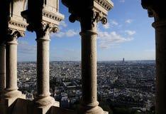 Vista della città con la vista bird's-eye Fotografie Stock