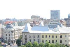 Vista della città da sopra Immagine Stock Libera da Diritti