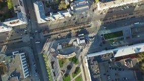 Vista della città da sopra video d archivio