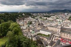 Vista della città da sopra Immagini Stock Libere da Diritti