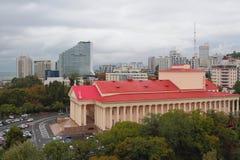 Vista della città da sopra Sochi, Russia fotografie stock libere da diritti