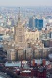 Vista della città da un'altezza Fotografia Stock Libera da Diritti