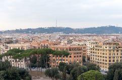 Vista della città dal castello di angelo della st Immagini Stock