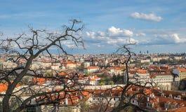 Vista della città dal castello di Praga Fotografia Stock Libera da Diritti