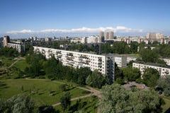 Vista della città dal di cui sopra Fotografia Stock
