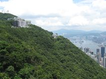 Vista della città dal picco di Victoria, Hong Kong immagine stock libera da diritti