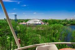 Vista della città dal ` della ruota panoramica del ` fotografia stock