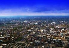 Vista della città dalla cima Immagini Stock