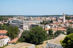 Vista della città dalla collina Kastel Immagini Stock Libere da Diritti