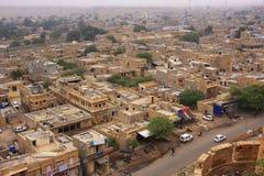 Vista della città dalla fortificazione di Jaisalmer, India Fotografia Stock Libera da Diritti