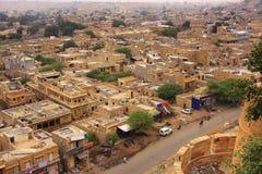 Vista della città dalla fortificazione di Jaisalmer, India Immagini Stock Libere da Diritti