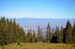 Vista della città dalla montagna Fotografie Stock