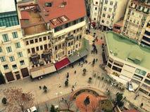 vista della città dalla torre immagini stock