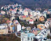 Vista della città dalle colline. fotografia stock libera da diritti