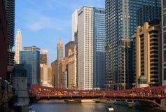 Vista della città del Chicago Immagine Stock