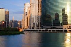 Vista della città del Chicago Immagini Stock