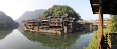 Vista della città del fenghuang Fotografia Stock