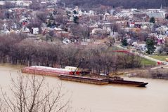 Vista della città del fiume Immagini Stock Libere da Diritti