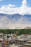 Vista della città del ladakh di Leh Fotografie Stock