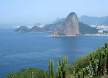 Vista della città del Rio de Janeiro fotografie stock libere da diritti