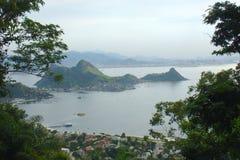 Vista della città del Rio de Janeiro fotografia stock