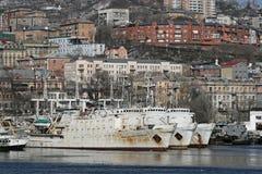 Vista della città del Vladivostok Immagine Stock
