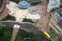 Vista della città della città da sopra Fotografia Stock Libera da Diritti