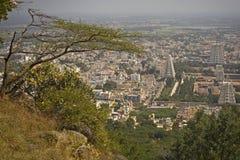 Vista della città della città di Tiruvanumalai, Tamilnadu, India fotografia stock libera da diritti