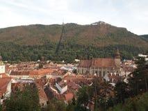 Vista della città della città rumena brasov Fotografia Stock