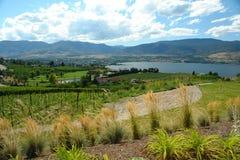 Vista della città della Columbia Britannica di Penticton Immagine Stock Libera da Diritti