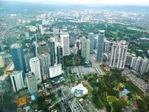 Vista della città della Malesia Fotografie Stock Libere da Diritti