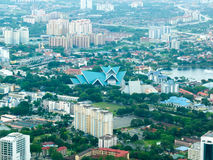 Vista della città della Malesia con il parco Immagini Stock