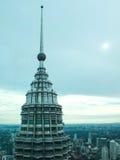 Vista della città della Malesia con il tetto tagliente Fotografia Stock