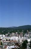 Vista della città della montagna fotografia stock libera da diritti