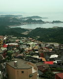 Vista della città della montagna Immagine Stock Libera da Diritti