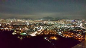 Vista della città della torre di Namsan immagine stock libera da diritti