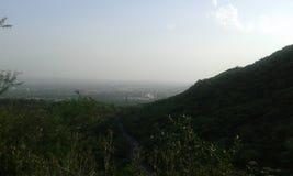 Vista della città delle montagne Fotografie Stock Libere da Diritti