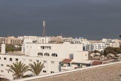 Vista della città di Agadir, Marocco Fotografie Stock Libere da Diritti
