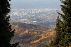 Vista della città di Almaty Immagine Stock Libera da Diritti