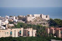 Vista della città di Almuñecar Fotografia Stock Libera da Diritti