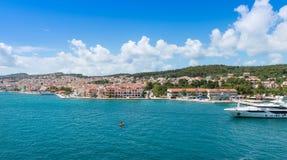 Vista della città di Argostoli Fotografia Stock