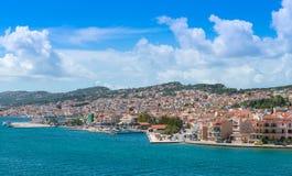 Vista della città di Argostoli Immagine Stock Libera da Diritti