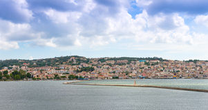 Vista della città di Argostoli Fotografie Stock