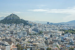 Vista della città di Atene immagini stock