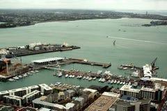 Vista della città di Auckland fotografia stock