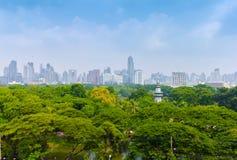 Vista della città di Bangkok Fotografie Stock Libere da Diritti